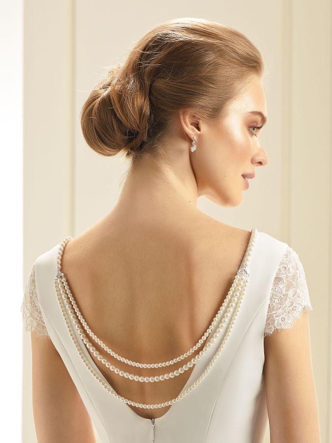Lange Rückenkette Braut-Accessoires Brautmoden mit Herz